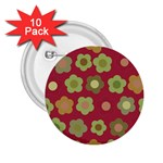 Floral pattern 2.25  Buttons (10 pack)  Front