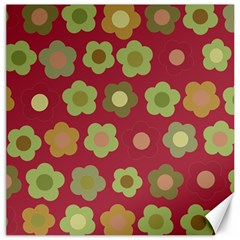 Floral pattern Canvas 16  x 16