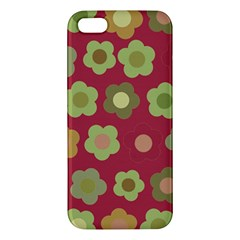 Floral pattern iPhone 5S/ SE Premium Hardshell Case