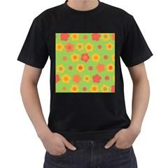 Floral pattern Men s T-Shirt (Black)