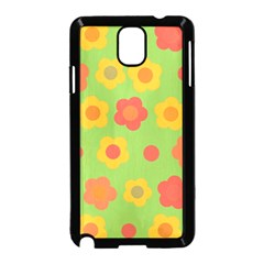 Floral pattern Samsung Galaxy Note 3 Neo Hardshell Case (Black)