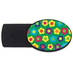 Floral pattern USB Flash Drive Oval (4 GB)