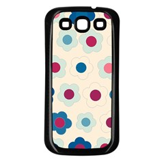 Floral pattern Samsung Galaxy S3 Back Case (Black)