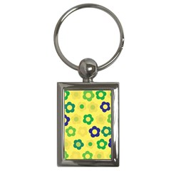 Floral pattern Key Chains (Rectangle)