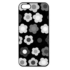 Floral pattern Apple iPhone 5 Seamless Case (Black)