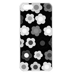 Floral pattern Apple iPhone 5 Seamless Case (White)