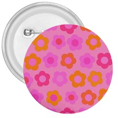 Pink floral pattern 3  Buttons