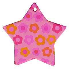 Pink floral pattern Ornament (Star)