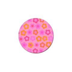 Pink floral pattern Golf Ball Marker (4 pack)