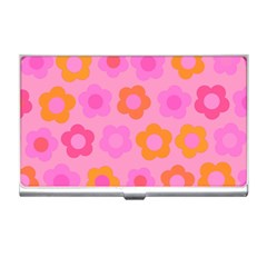 Pink floral pattern Business Card Holders