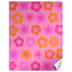 Pink floral pattern Canvas 18  x 24