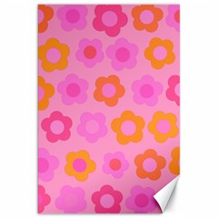 Pink floral pattern Canvas 20  x 30