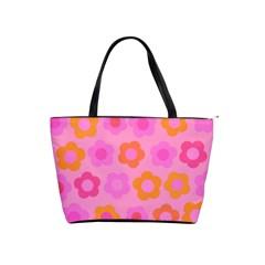 Pink floral pattern Shoulder Handbags