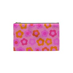 Pink floral pattern Cosmetic Bag (Small)