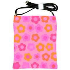 Pink floral pattern Shoulder Sling Bags