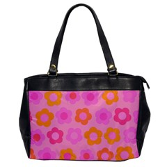 Pink floral pattern Office Handbags