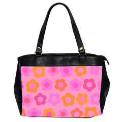 Pink floral pattern Office Handbags (2 Sides)