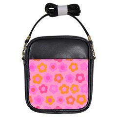 Pink floral pattern Girls Sling Bags