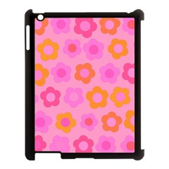 Pink Floral Pattern Apple Ipad 3/4 Case (black)