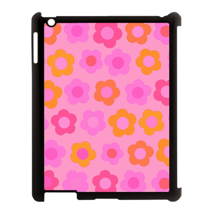 Pink floral pattern Apple iPad 3/4 Case (Black)