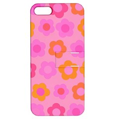 Pink floral pattern Apple iPhone 5 Hardshell Case with Stand