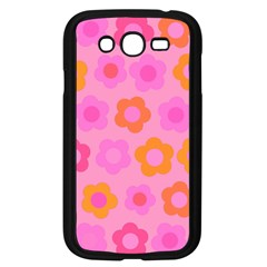 Pink floral pattern Samsung Galaxy Grand DUOS I9082 Case (Black)