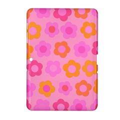 Pink floral pattern Samsung Galaxy Tab 2 (10.1 ) P5100 Hardshell Case