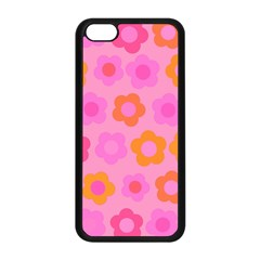 Pink floral pattern Apple iPhone 5C Seamless Case (Black)