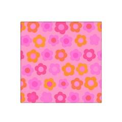 Pink floral pattern Satin Bandana Scarf