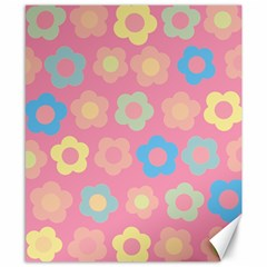 Floral pattern Canvas 8  x 10