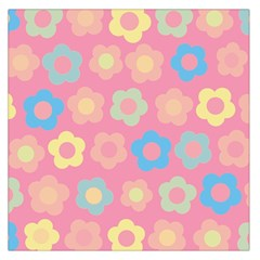Floral pattern Large Satin Scarf (Square)