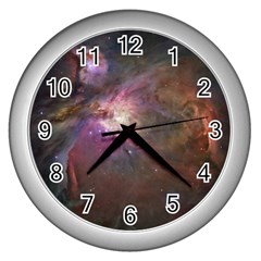 Orion Nebula Wall Clocks (Silver)