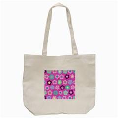 Floral pattern Tote Bag (Cream)
