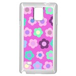 Floral pattern Samsung Galaxy Note 4 Case (White) Front