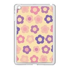 Floral pattern Apple iPad Mini Case (White)