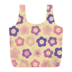 Floral pattern Full Print Recycle Bags (L)
