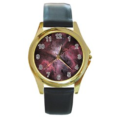 Carina Peach 4553 Round Gold Metal Watch