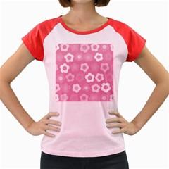 Floral pattern Women s Cap Sleeve T-Shirt
