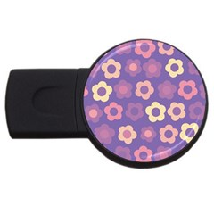 Floral pattern USB Flash Drive Round (4 GB)