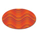 Pattern Oval Magnet Front