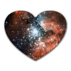 Star Cluster Heart Mousepads