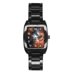 Star Cluster Stainless Steel Barrel Watch