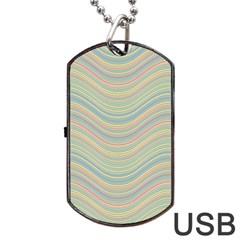 Pattern Dog Tag USB Flash (One Side)