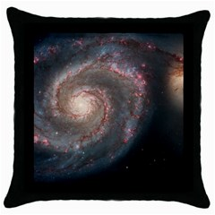 Whirlpool Galaxy And Companion Throw Pillow Case (Black)