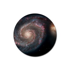 Whirlpool Galaxy And Companion Rubber Round Coaster (4 pack)