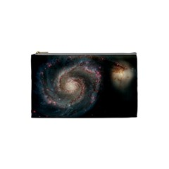 Whirlpool Galaxy And Companion Cosmetic Bag (Small)