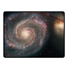Whirlpool Galaxy And Companion Fleece Blanket (Small)