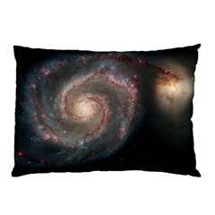 Whirlpool Galaxy And Companion Pillow Case (Two Sides)