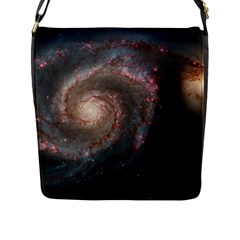 Whirlpool Galaxy And Companion Flap Messenger Bag (L)