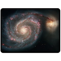 Whirlpool Galaxy And Companion Double Sided Fleece Blanket (Large)